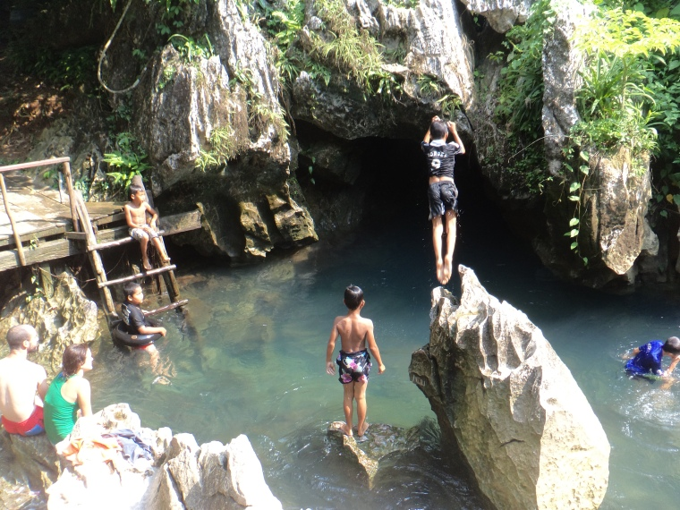 Caving in Laos