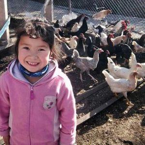 little girl Kyrgyz