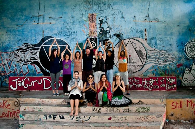 yogis at the beatles' ashram