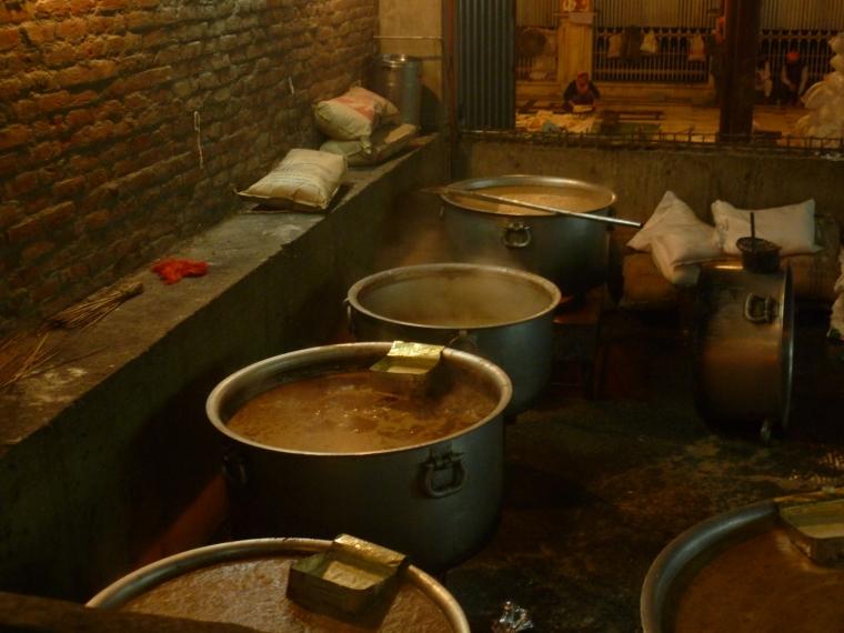 Giant vat of chai