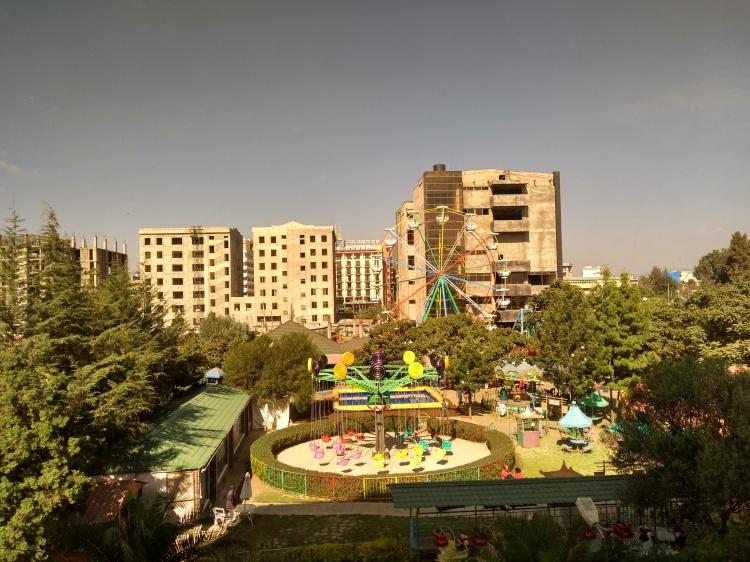 Mini carnival in Bole, Addis Ababa