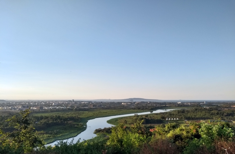 Blue Nile river and Lake Tana in the distance
