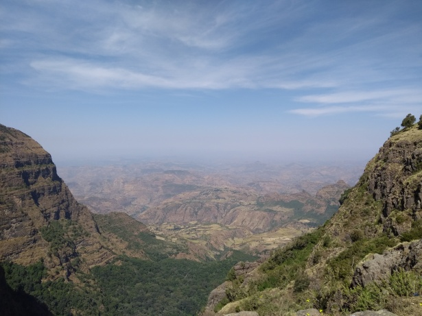 simien mountain valley vista