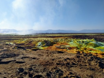 dallol crater in the background
